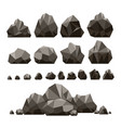 stones and rocks 3d isometric vector image vector image