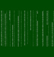streaming binary code background vector image vector image