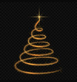stylized christmas tree isolated vector image