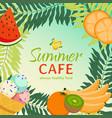 summer cafe banner always vector image
