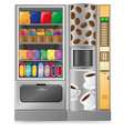 vending coffee and snack is a machine vector image