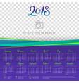wall calendar 2018 year copy space atop vector image