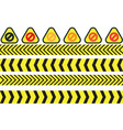 warning icons vector image vector image