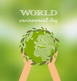 World environmental day design vector image vector image