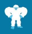 yeti angry bigfoot evil abominable snowman vector image vector image