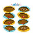 cute african american baby boy emotions set vector image