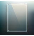Glass frame at blur background vector image
