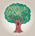 Tree low poly abstract stylized vector image