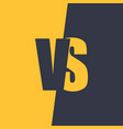 versus letters fight and match element vector image