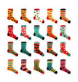 child socks icons colorful cute icons vector image
