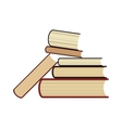 Six 6 books stack study library symbol Bookstore vector image