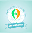 29 december constitution day in ireland vector image vector image