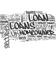 a guide to uk secured homeowner loans text word vector image vector image