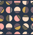 abstract geometric seamless repeat pattern with vector image vector image