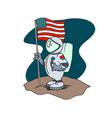 astronaut american cartoon character vector image