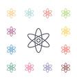 atom flat icons set vector image vector image