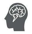 brainstorm glyph icon creative and idea brain vector image vector image