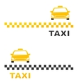 business card with cab vector image vector image