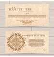 Cards With Pattern of Henna vector image