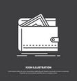 cash finance money personal purse icon glyph vector image vector image