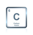 chemical element carbon from the periodic table vector image vector image