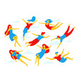 collection people flying dreaming concept vector image vector image