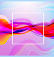 colorful flow poster with line poster vector image vector image