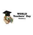 concept on the world teacher s day with the image vector image vector image