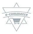 e commerce shop logo simple gray style vector image vector image