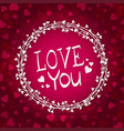festive background with hearts vector image vector image