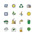 flat eco icons vector image vector image