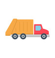 garbage truck icon vector image