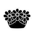 garden flowers pot vector image vector image