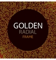 gold disco lights frame or spangles round vector image vector image