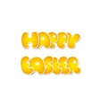 Happy Easter Design isolated on White Background vector image vector image