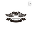 harley davidson emblem or logo symbol isolated vector image