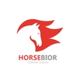 horse with fire logo design template vector image vector image