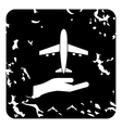 Insurance flights concept icon grunge style vector image vector image