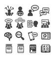 language icon vector image vector image