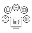Line icons design vector image vector image