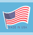 made in usa flag emblem text original american vector image vector image