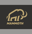 mammoth logo template on a dark background vector image vector image