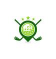 marker golf logo icon design vector image
