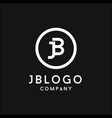 monogram initial jb logo design vector image vector image