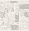 Newspaper seamless pattern with old vintage