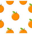 oranges fruit seamless pattern vector image vector image
