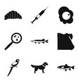 other animal icons set simple style vector image