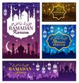 ramadan kareem eid mubarak muslim religion holiday vector image
