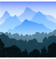 realistic mountain landscape with vector image vector image