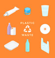recycle plastic waste management set vector image